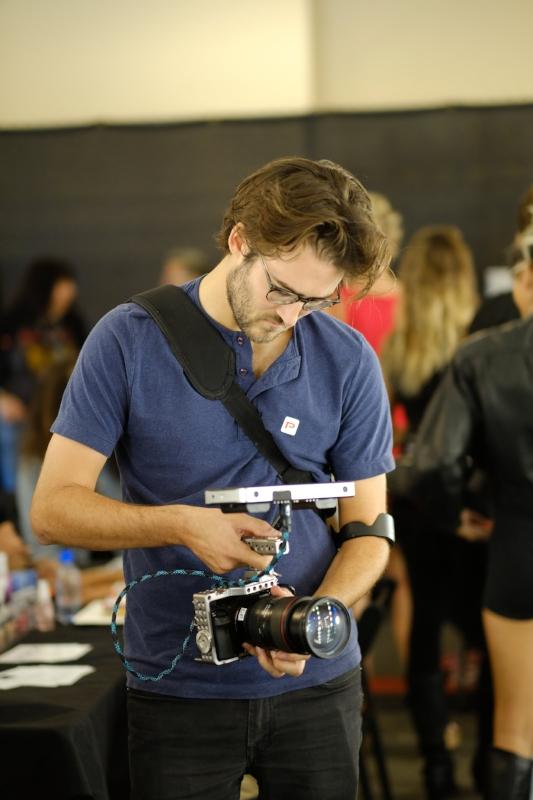 David Gwynn director at Woodwalk at LA Fashion Week Norwegian