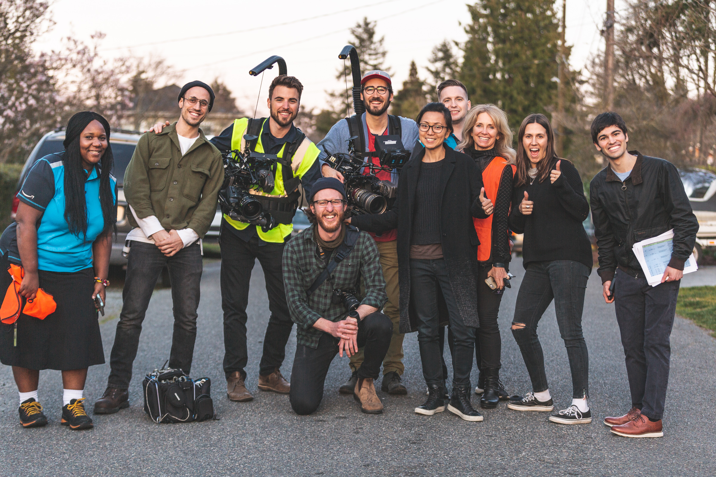 Amazon key commercial film crew Seattle Woodwalk