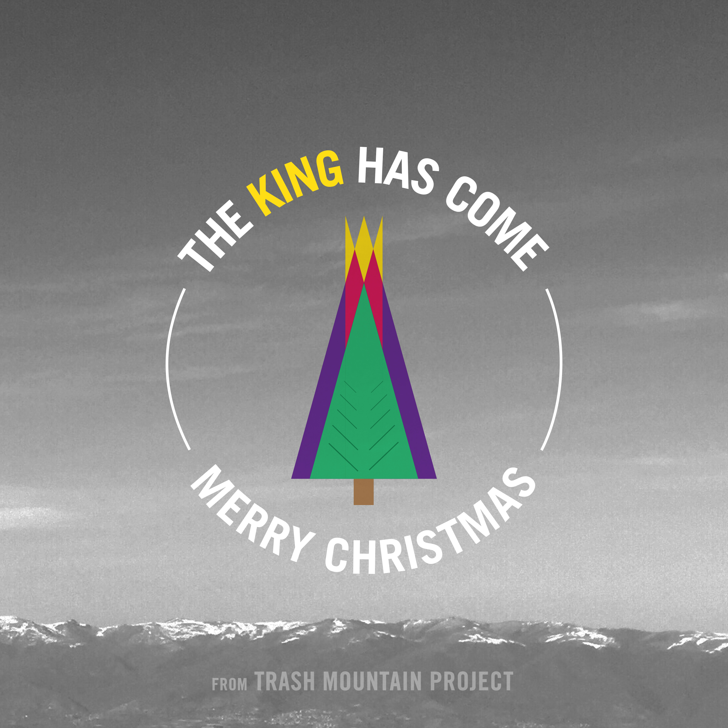 Instagram Christmas graphic for Trash Mountain Project