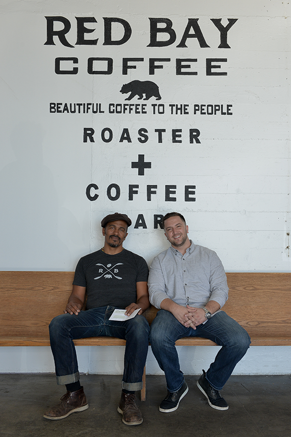 Keba Konte, founder of Red Bay Coffee, and Sean Daniel Murphy, interim CEO of ICA.