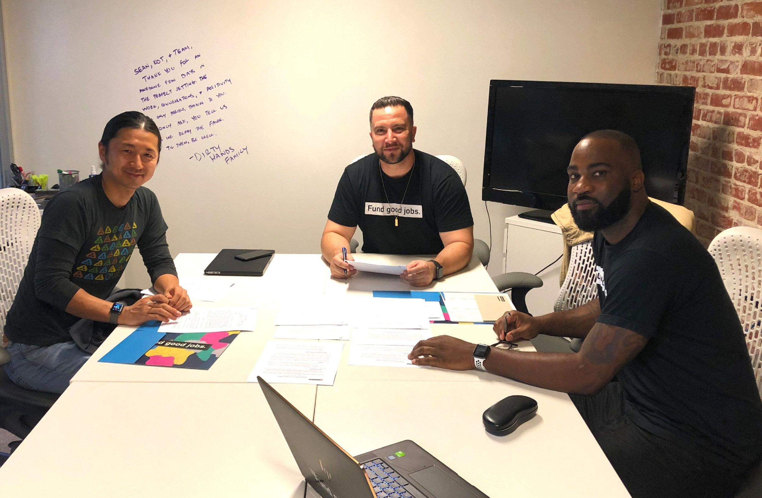 above:    Koji Kanematsu, Sean Murphy, and Rasheed Mitchell.