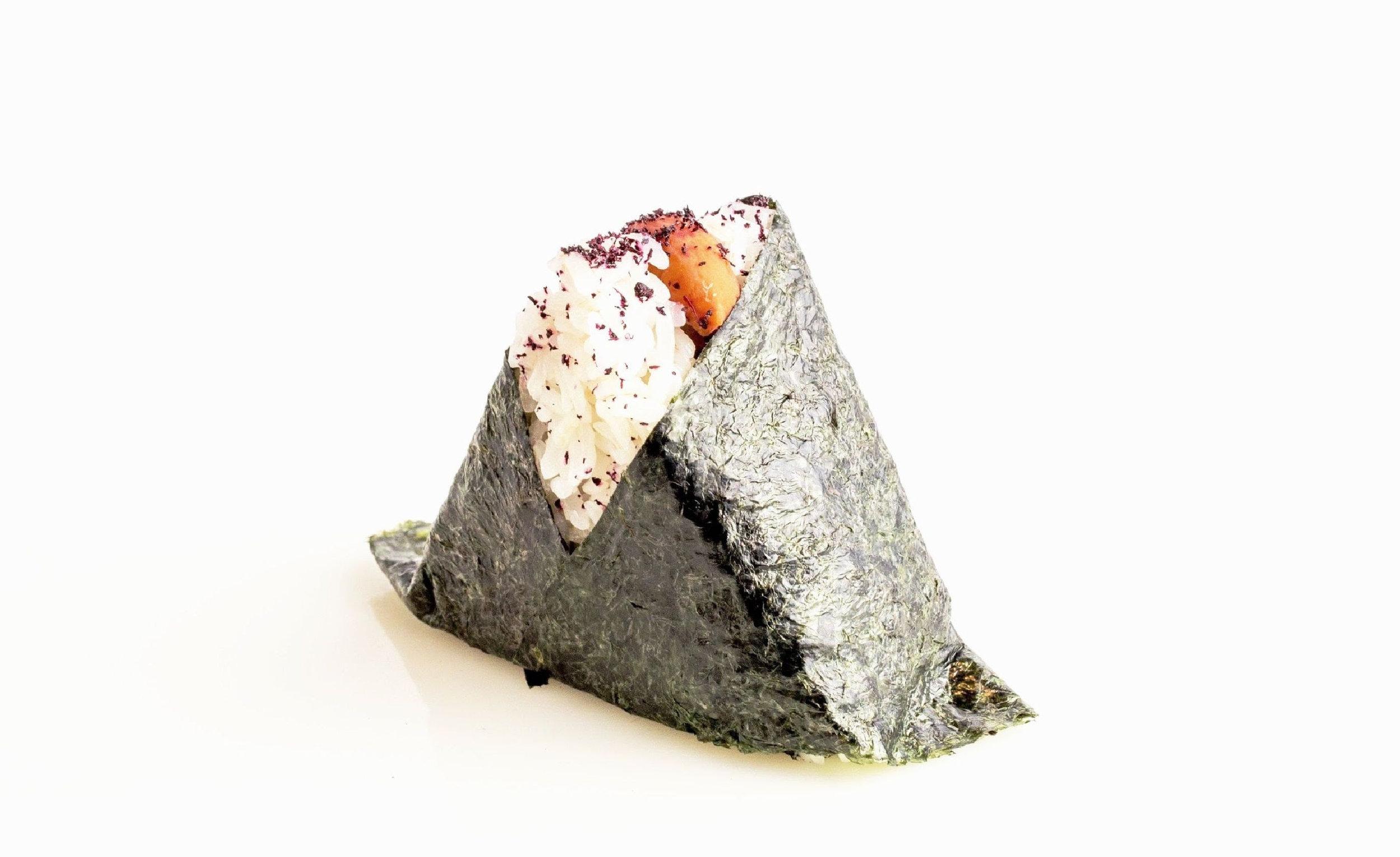 above:    one of Onigilly's onigiri.