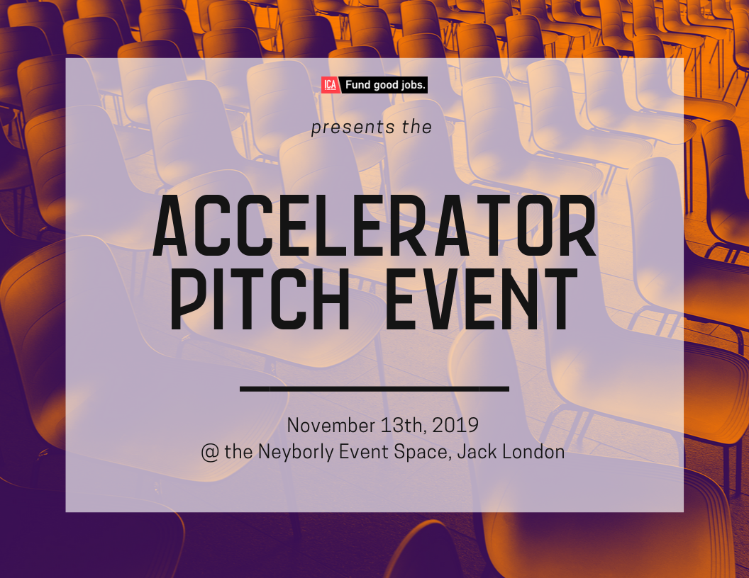 ICA Accelerator Pitch Event Fall 2019