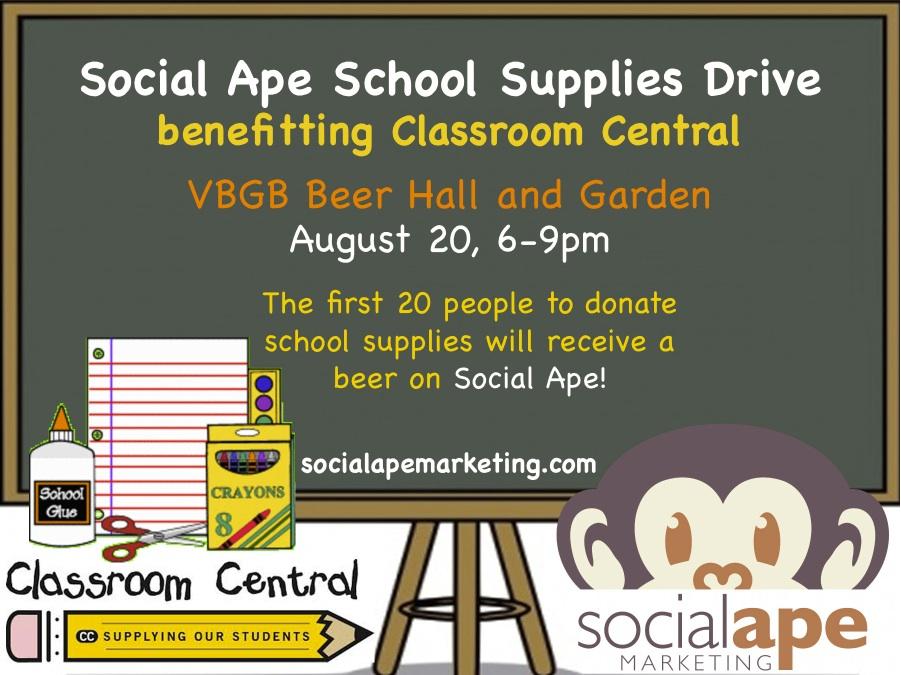 Social Ape School Drive Flier