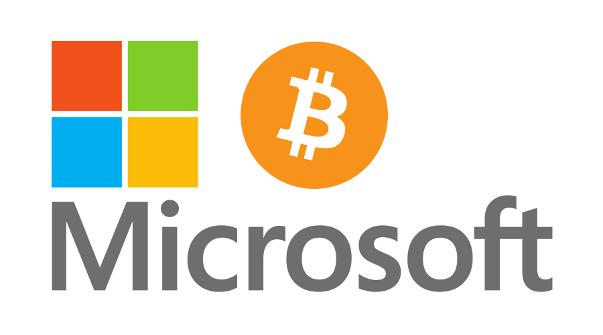 annuncio di microsoft bitcoin