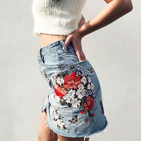 GRLFRND x FRWD  Milla High-Rise A-Frame Skirt,   $270