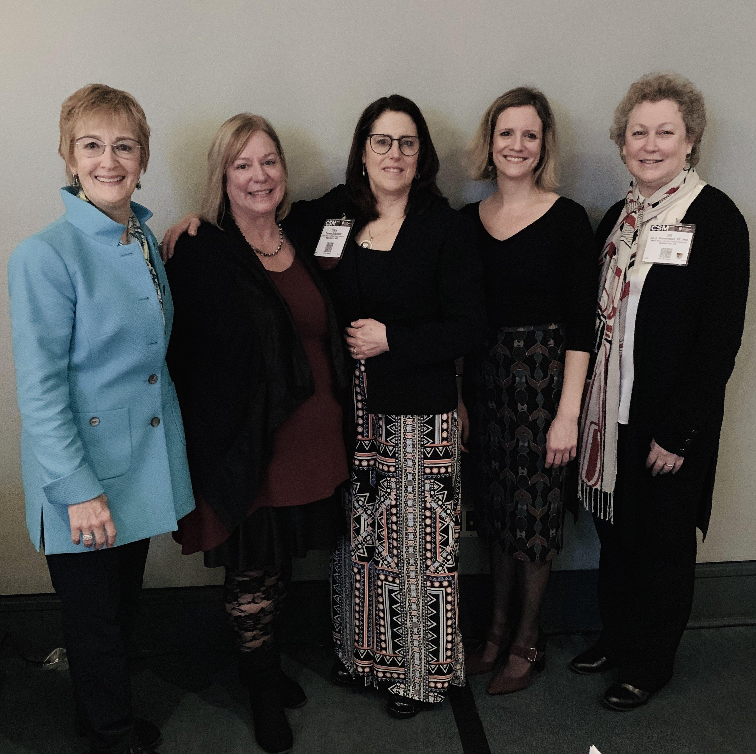 Rebecca Stephenson, Susan Clinton, Tracy Spitznagle, Laura Kaiser, Jill Boissonnault