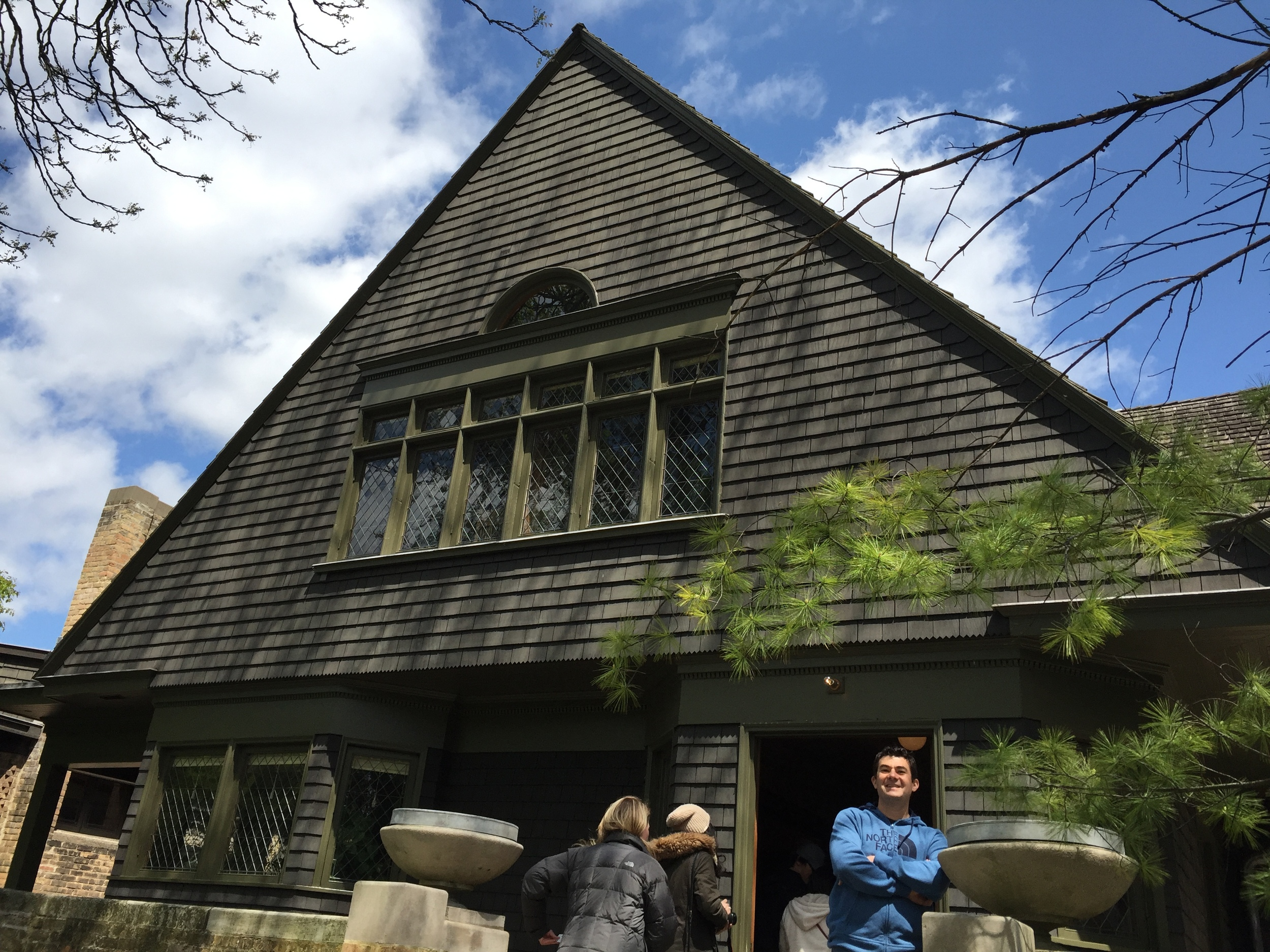 Frank Lloyd Wright's first house he designed himself