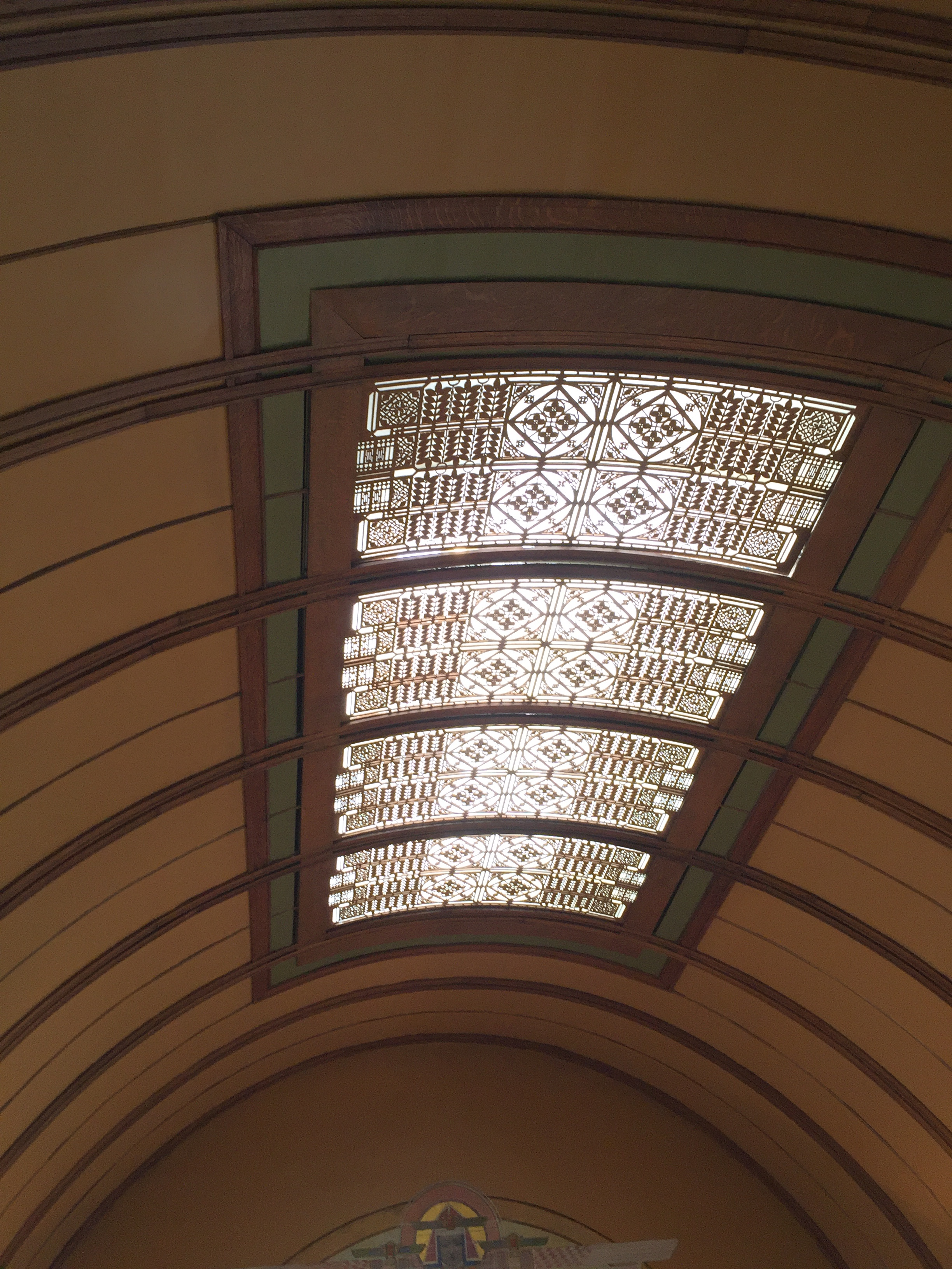 Wright's playroom ceiling