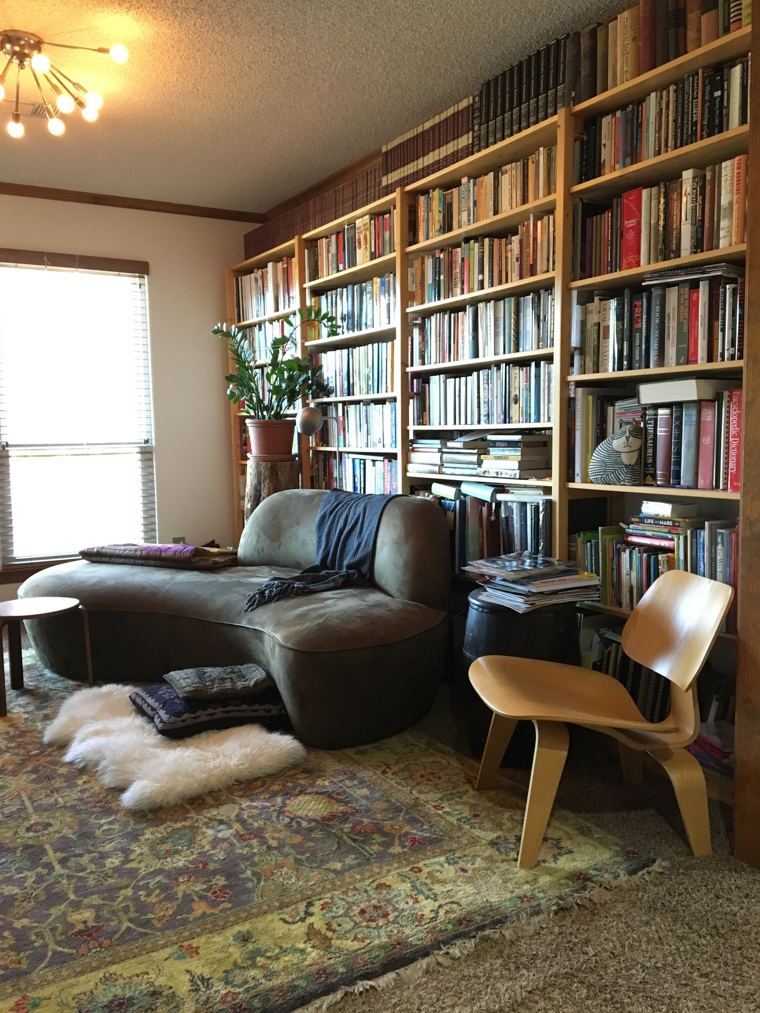partial view of the library, my favorite room in the house