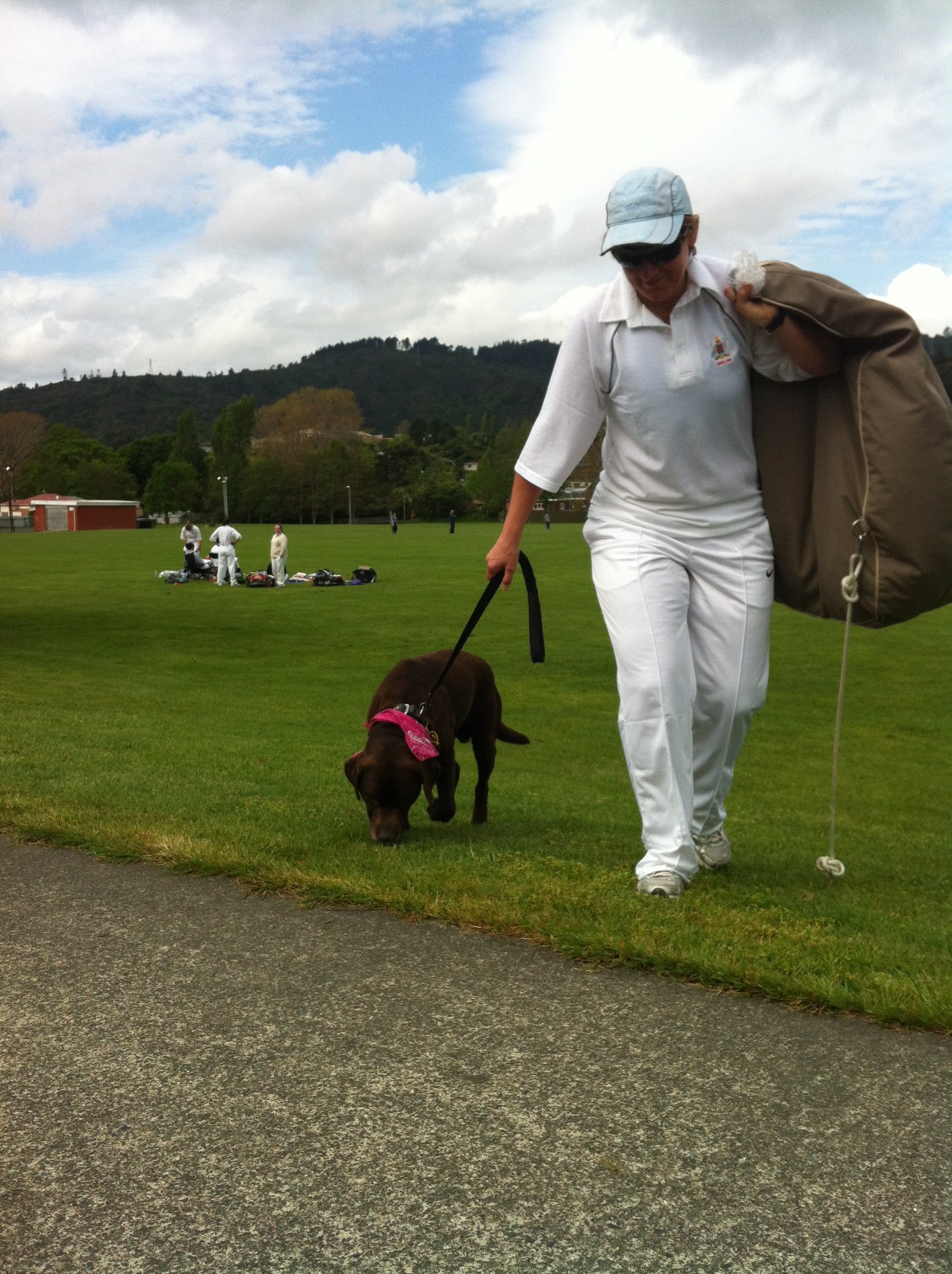 Scooby at Stokes Valley cricket - with Shiree.jpg