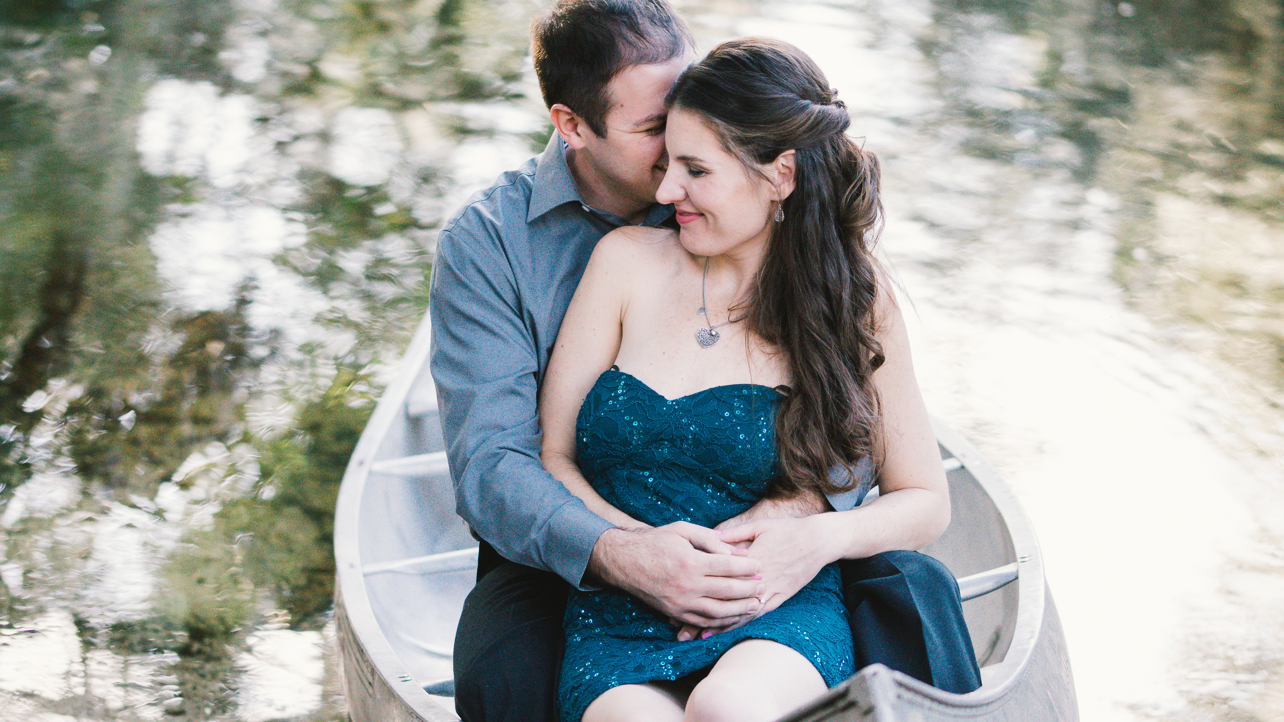 Tampa romantic canoe engagement session by Mir*Salgado Photography