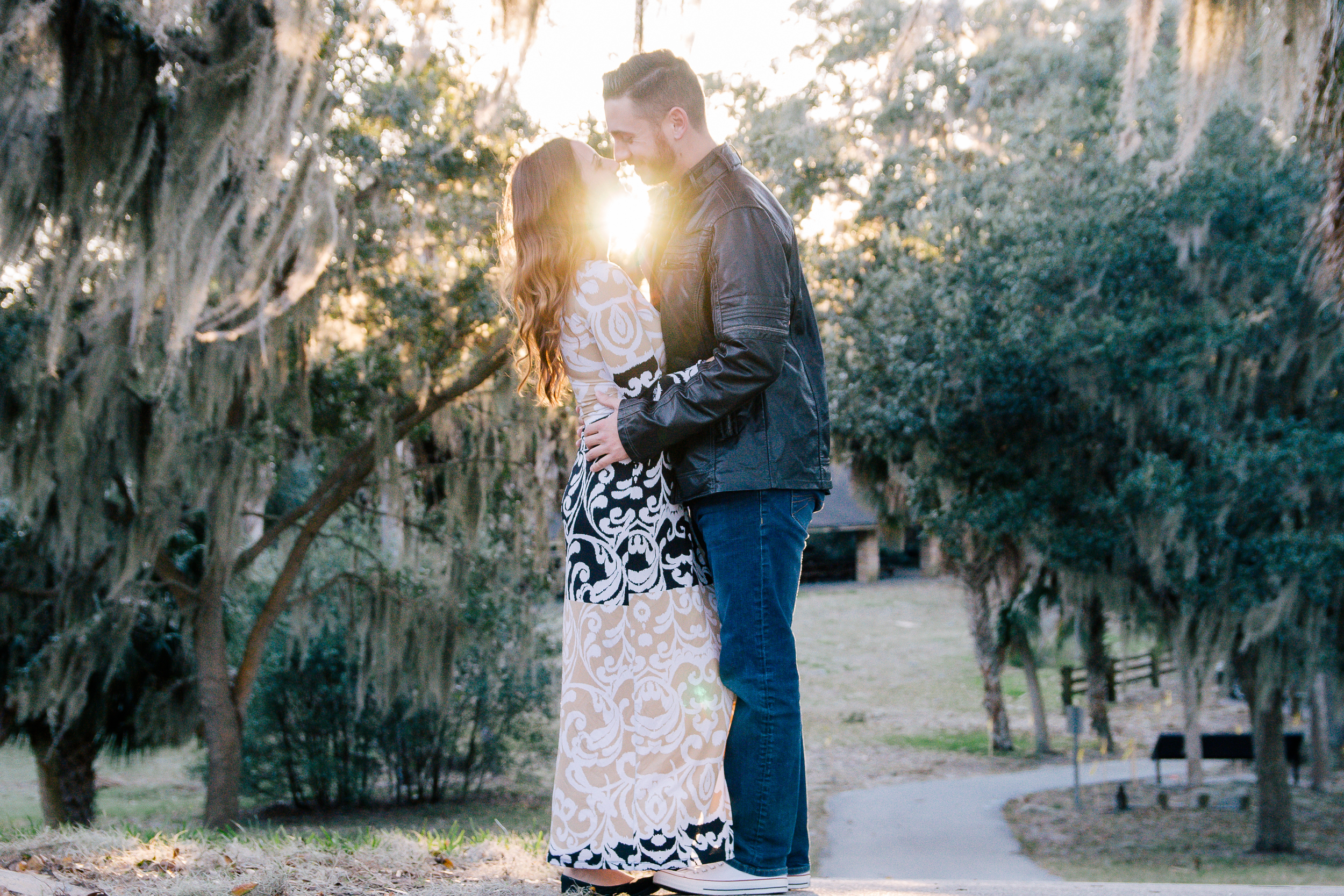 Tampa engagement session at Phillipe Park in Safety Harbor, Fl. Tampa wedding photographer
