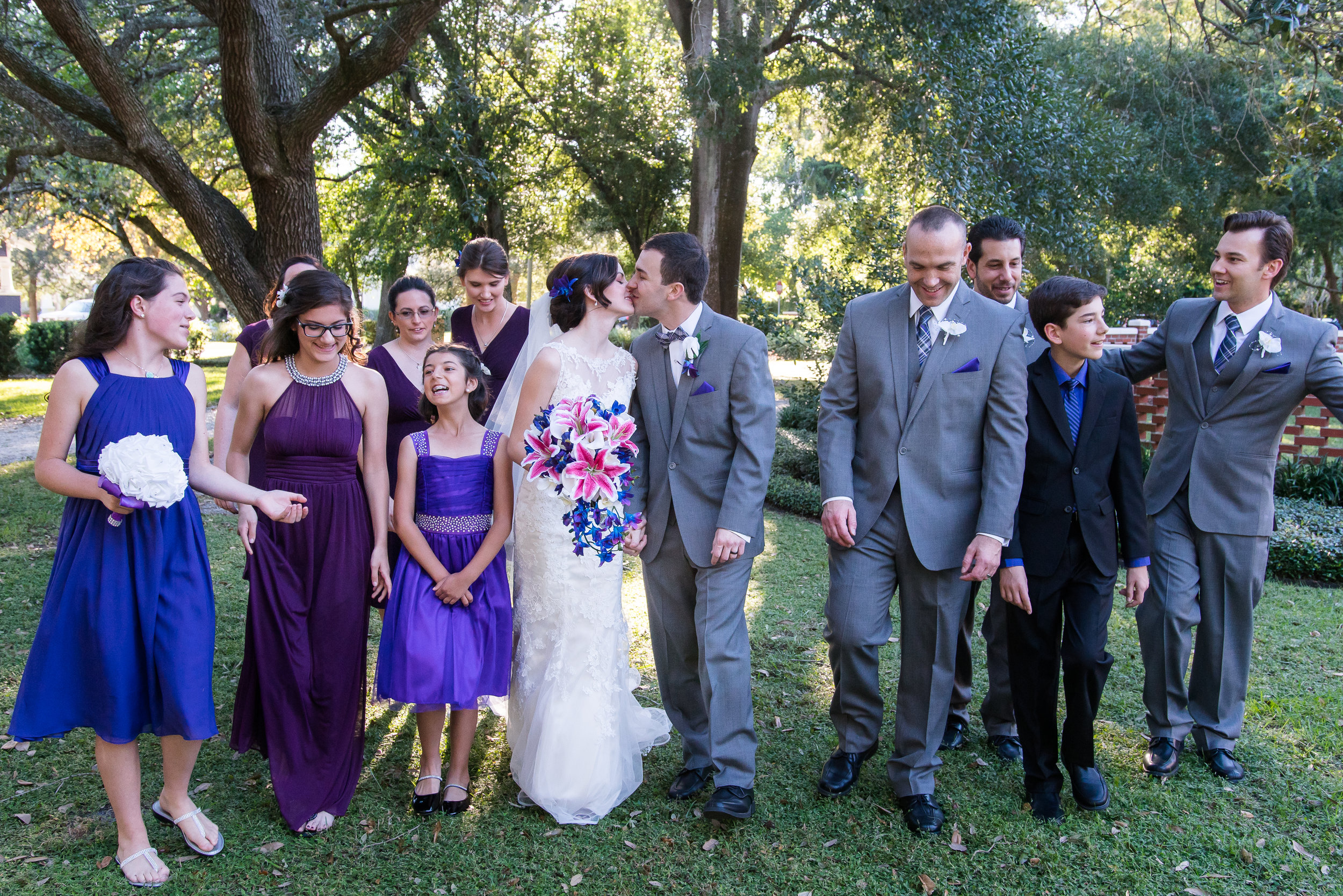 tampa wedding, bridesmaids, best men, wedding photography
