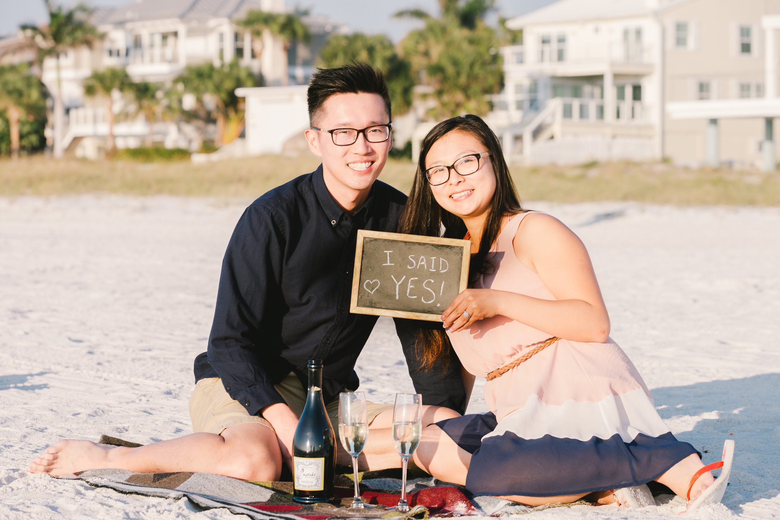 Tampa wedding photographer, Surprise proposal at the beach, Clearwater engagement photos, St.Pete wedding photographer, Tampa engagement session, Wedding photographer, Mir Salgado Photography, Allura studios, engagement session