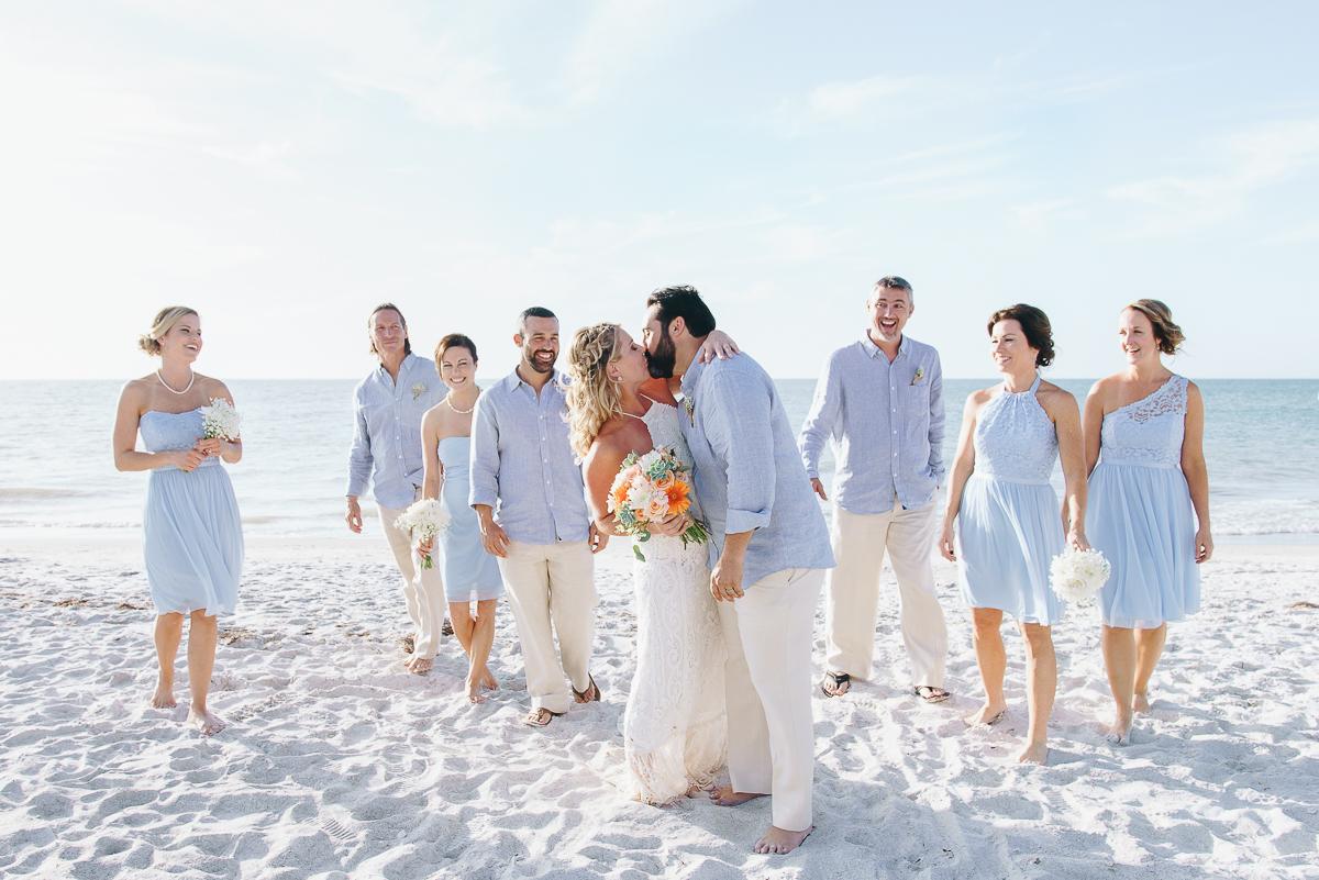 bridal-party. kiss-wedding-indian rocks