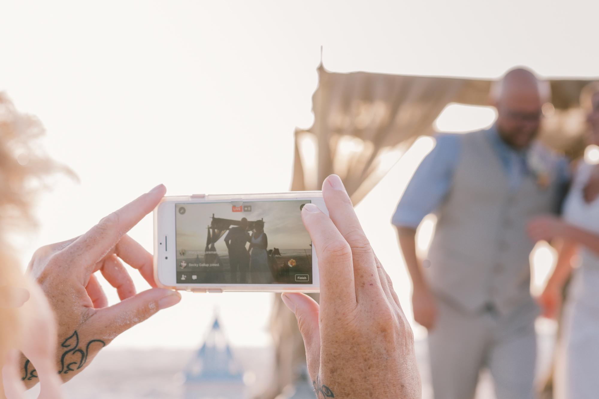 livestream-wedding-video-ceremony, St.Petebeach-wedding