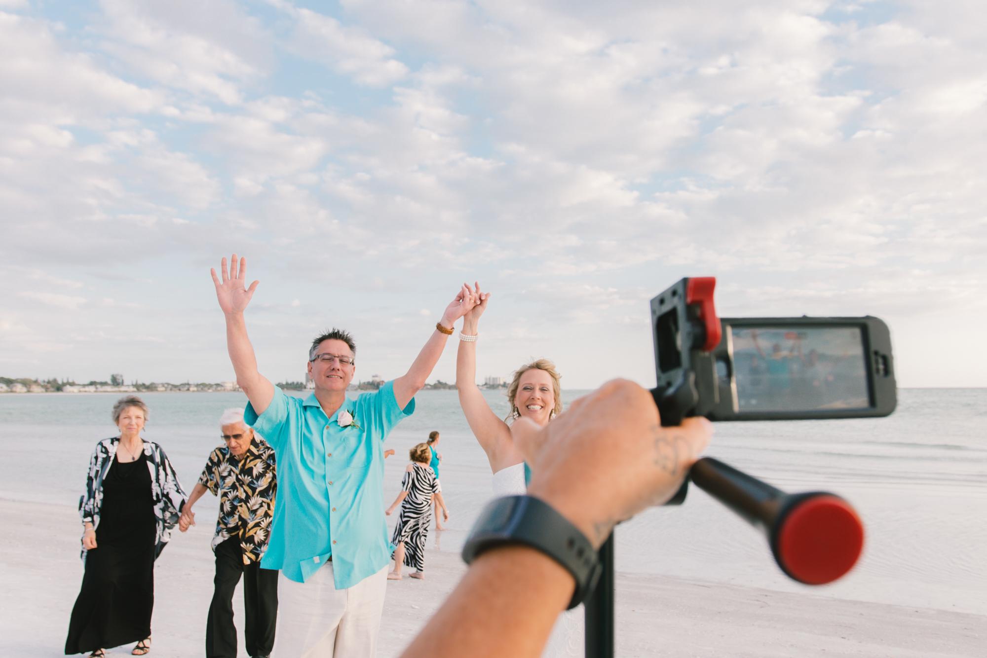 beach-wedding-ceremony-go-live, Florida-destination-wedding