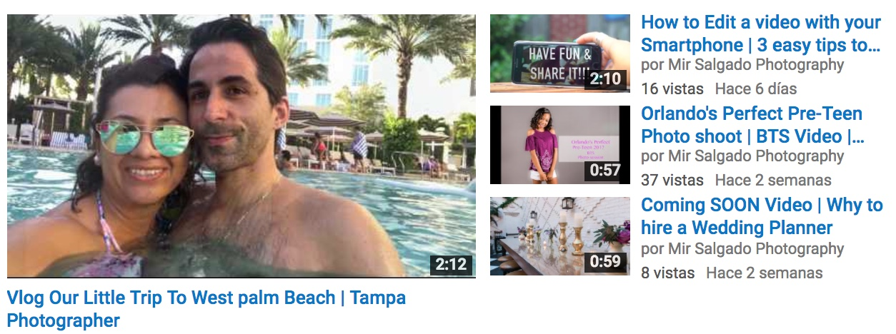 Tampa vlogger, vlog, video youtube, tampa photographer