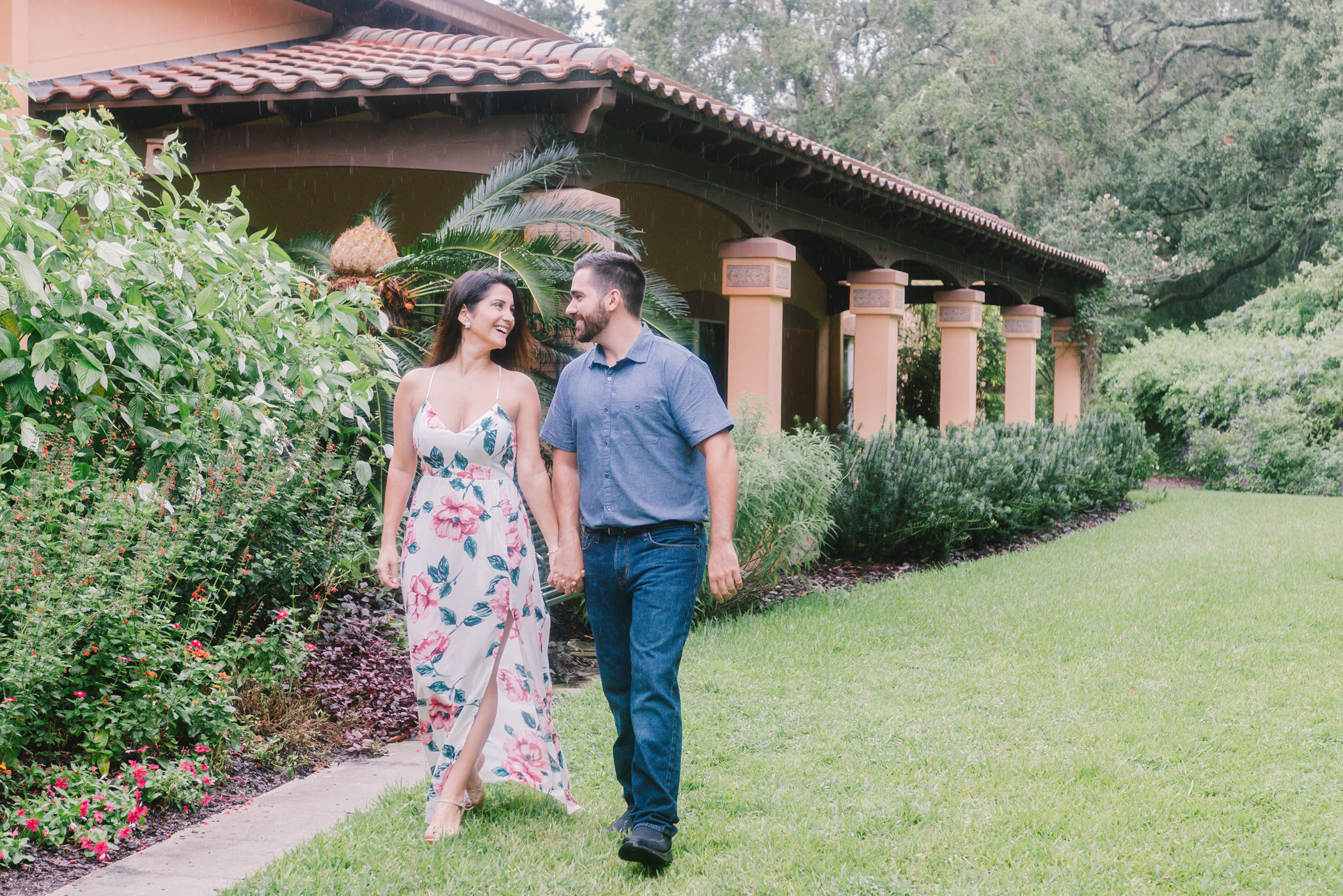 Bok-tower-gardens-engagement, Tampa-wedding-photographer
