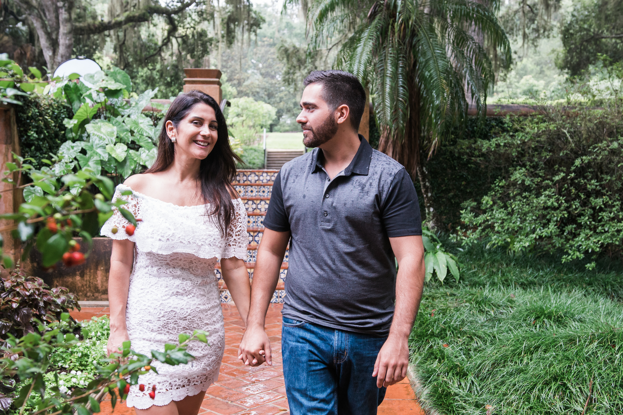 Bok-tower-gardens-engagement-session, Tampa-wedding-photographer