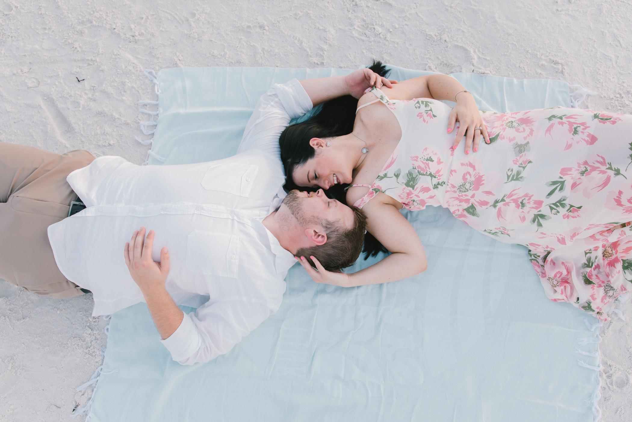 sunset-beach-florida-engagement-session, tampa-wedding-photographer