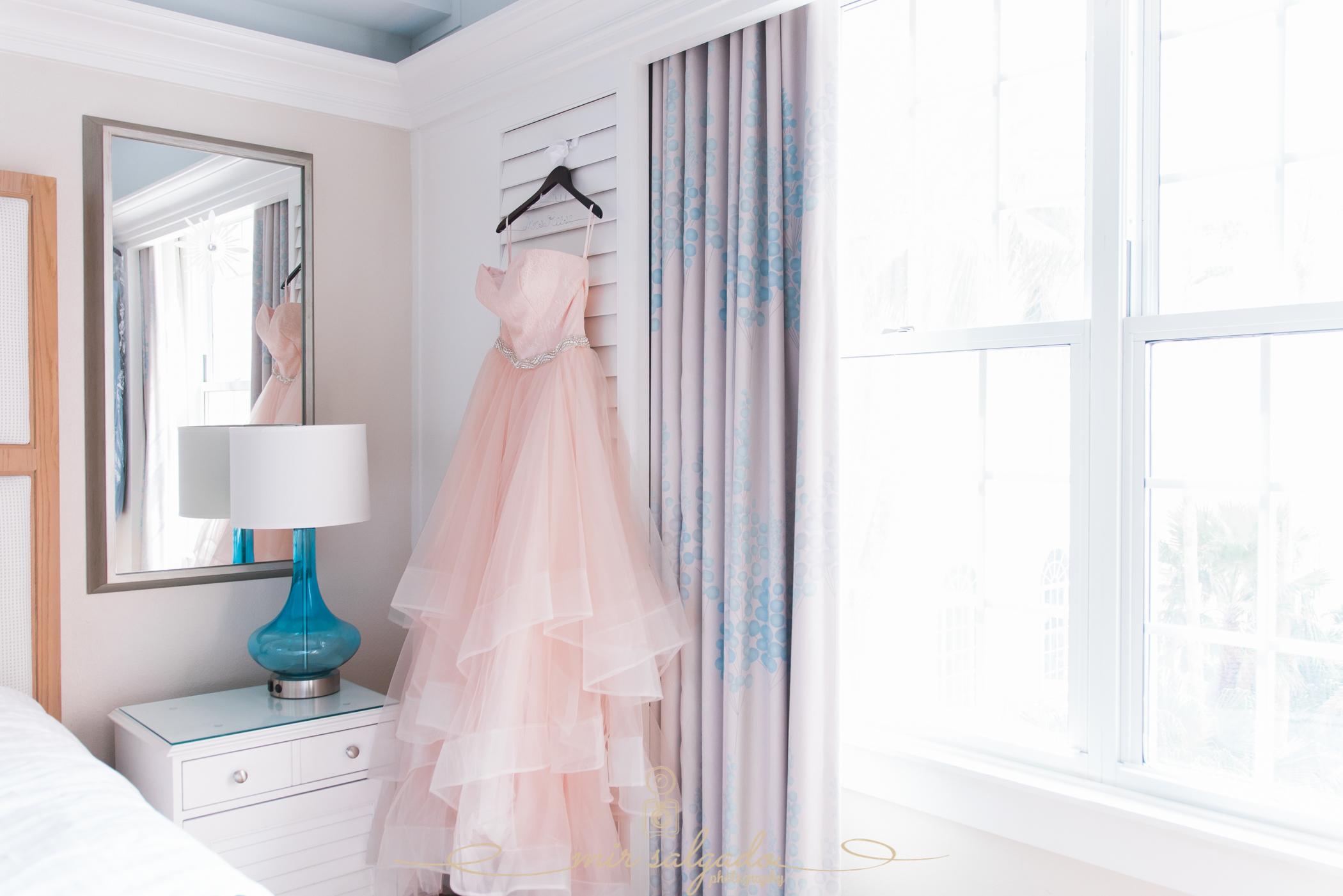St.Pete-wedding-photographer, Pink-wedding-dress