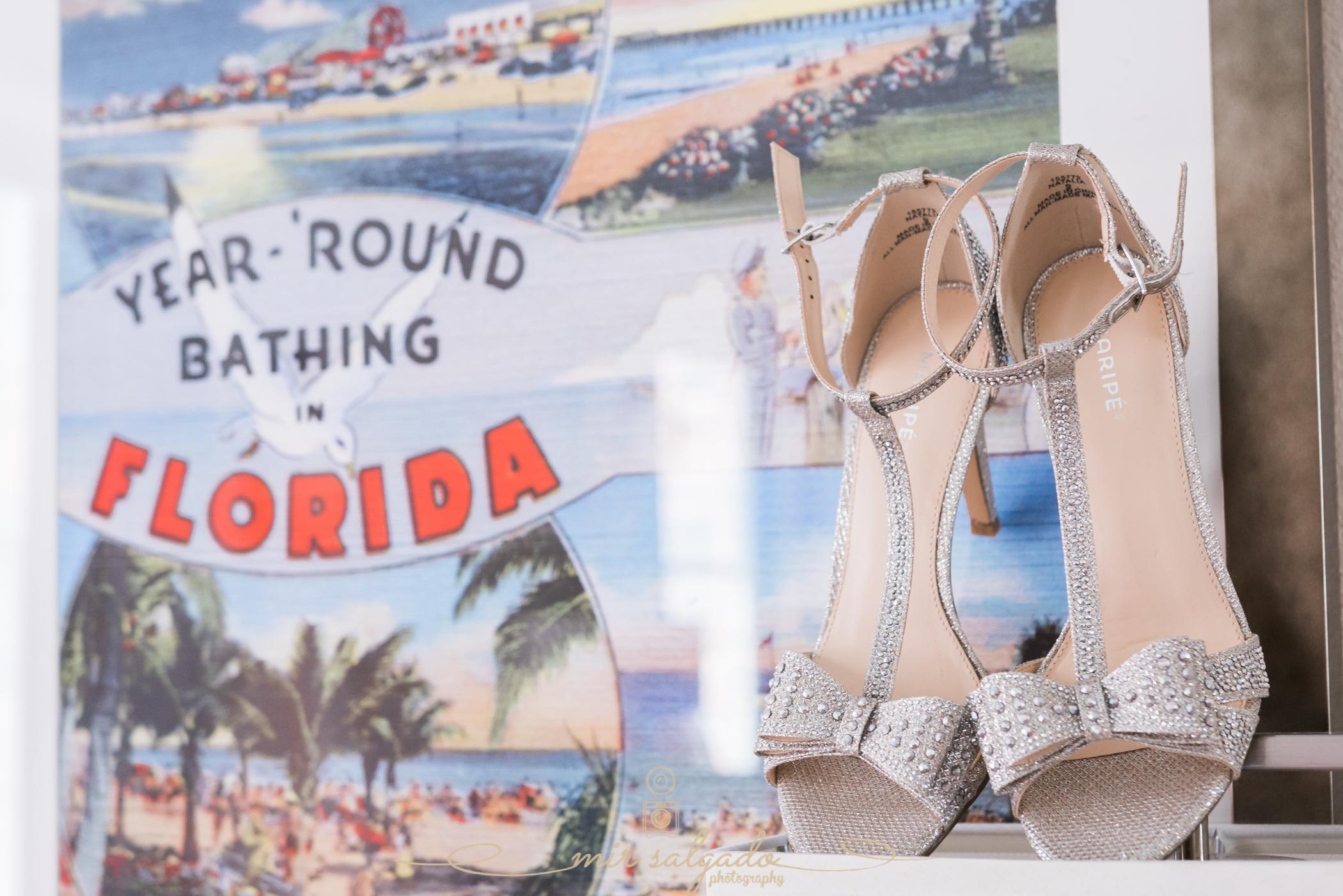 Florida-beach-wedding, The-Don-Cesar-wedding, Getting-ready-photos, bride-shoes