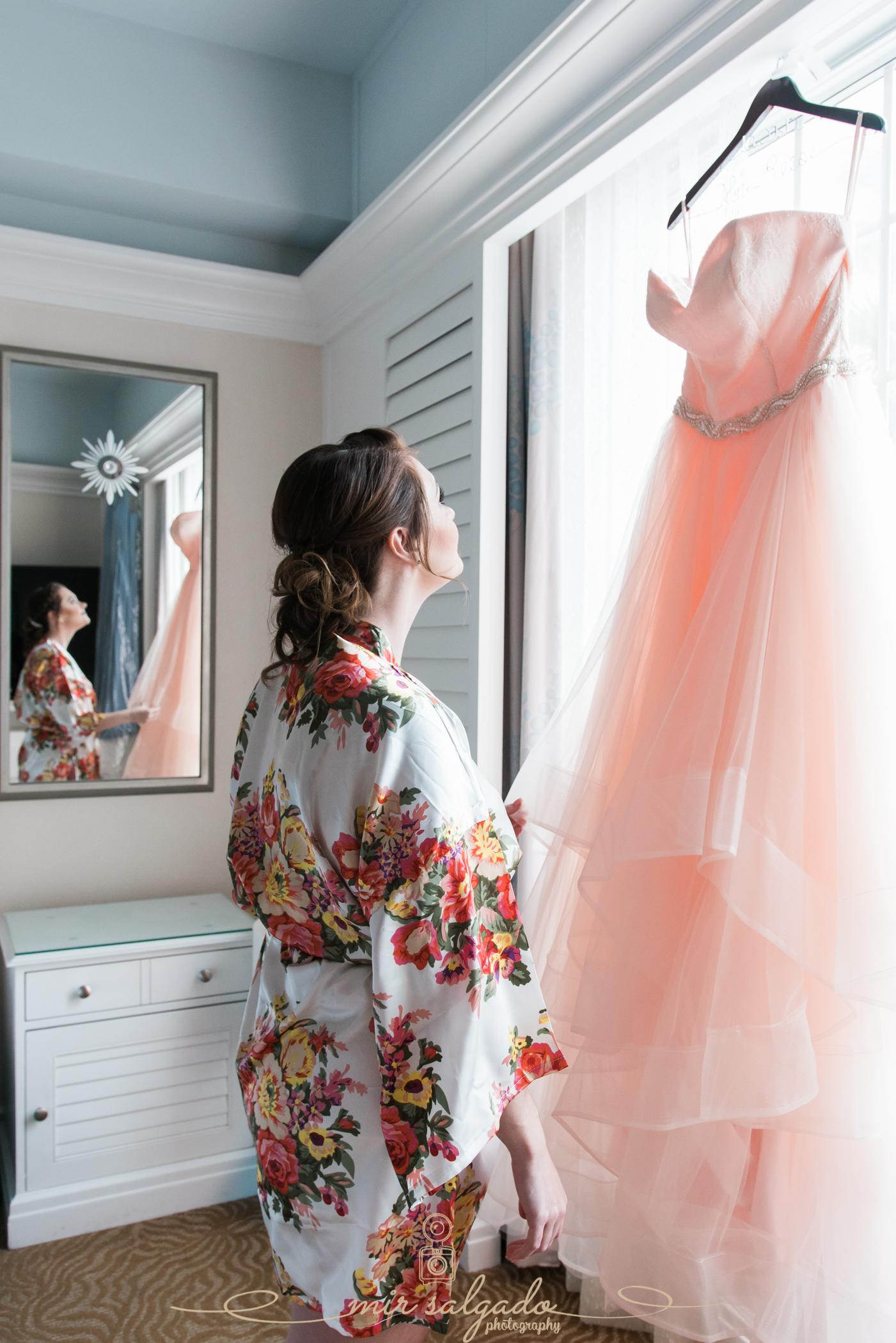 The-Don-Cesar-wedding, Pink-wedding-dress