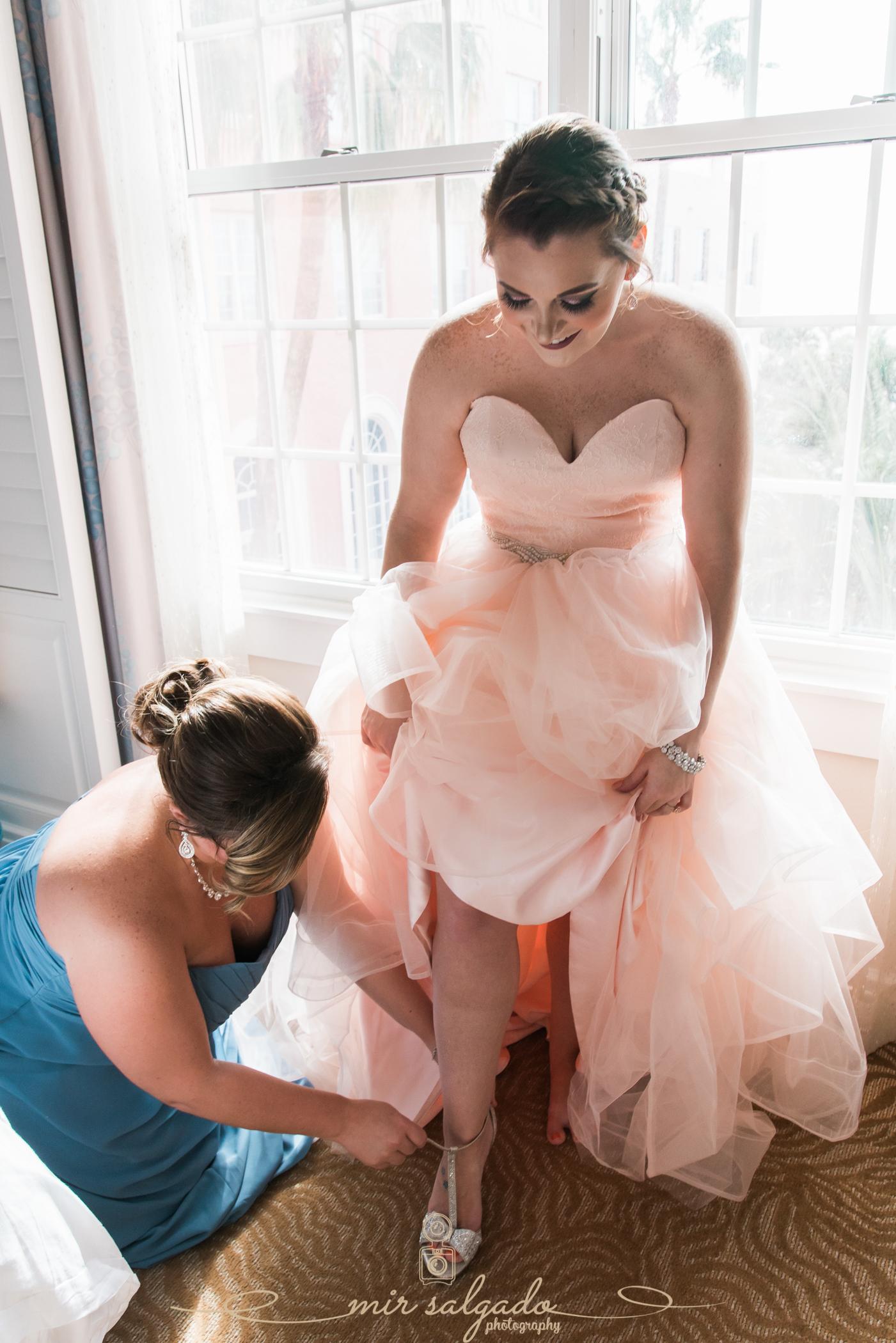 Pink-wedding-dress, St.Pete-wedding-photographer, Florida-wedding