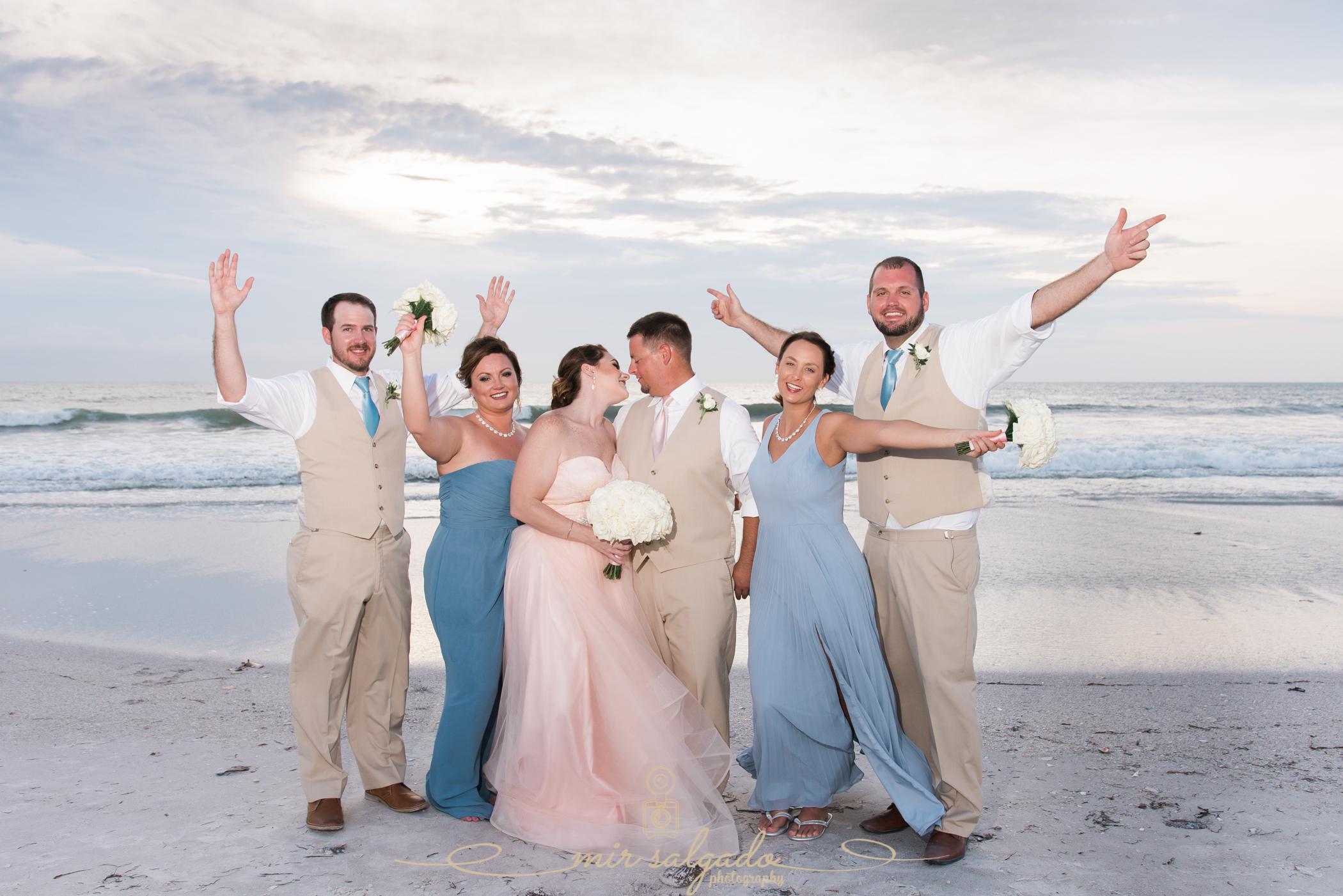 bridal-party-beach-wedding-photo, St.Pete-wedding