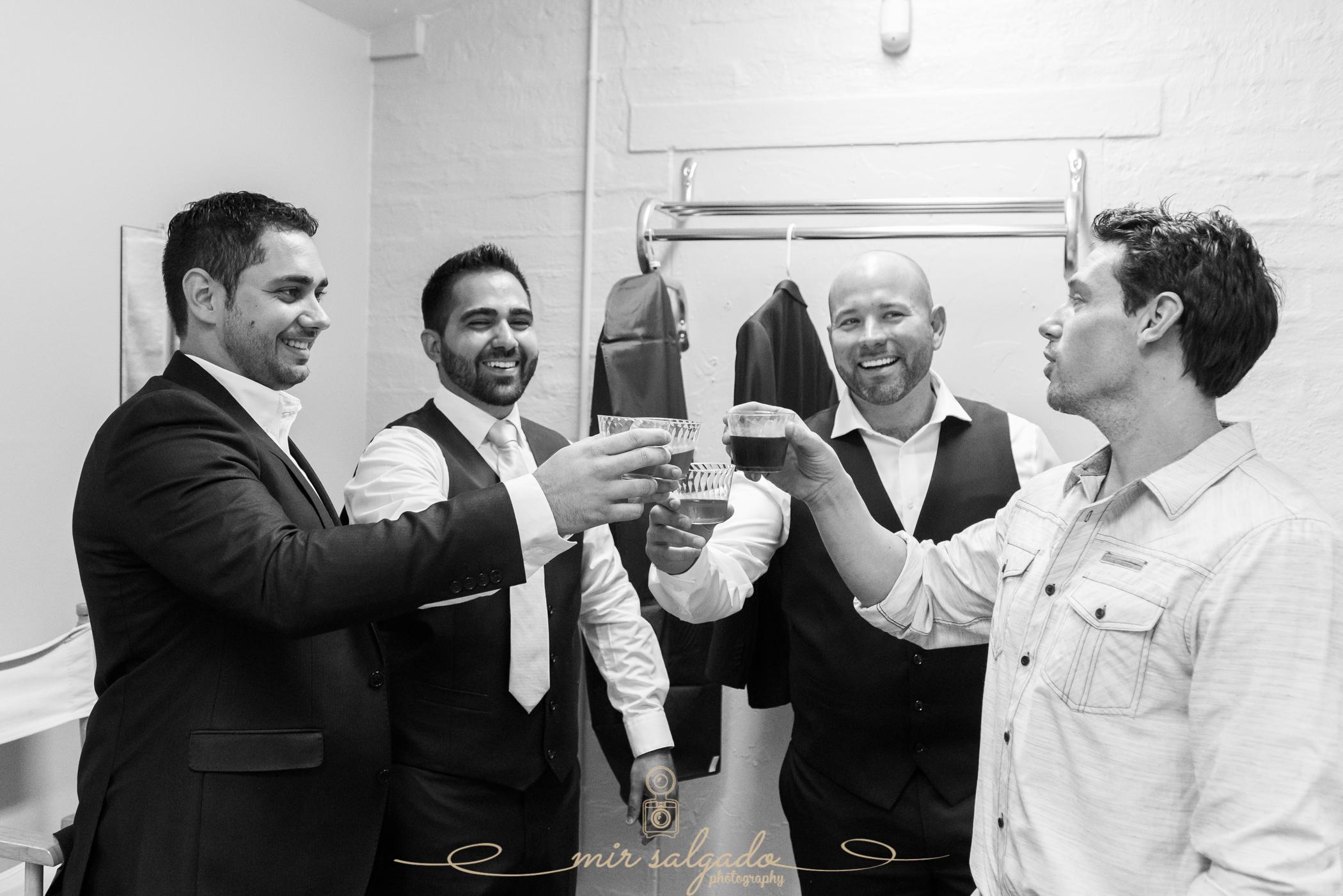 groom-and-groomsmen-getting-ready, Bok-tower-wedding-photo