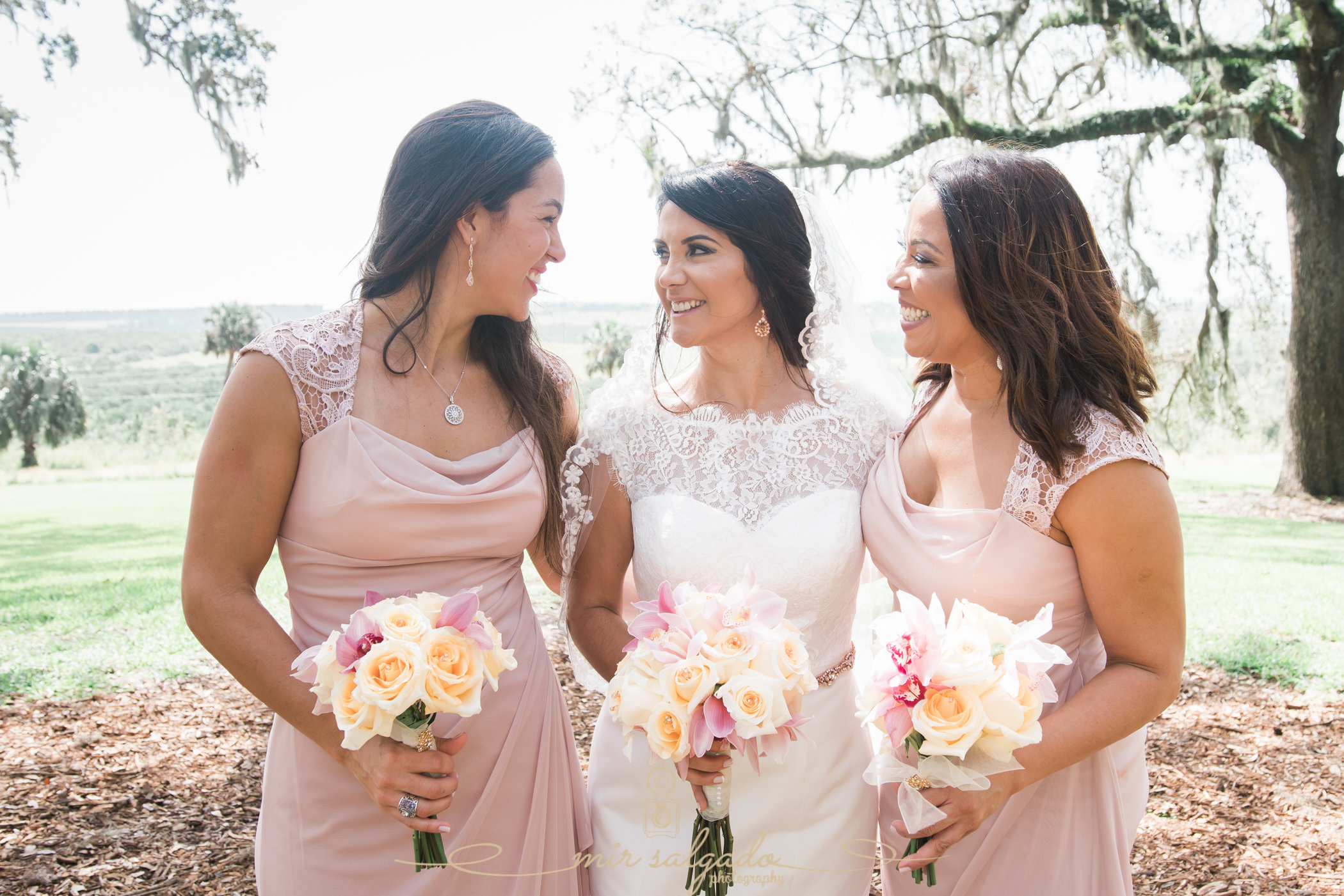 Bride-and-bridemaids-photo, Bok-tower-wedding-photo