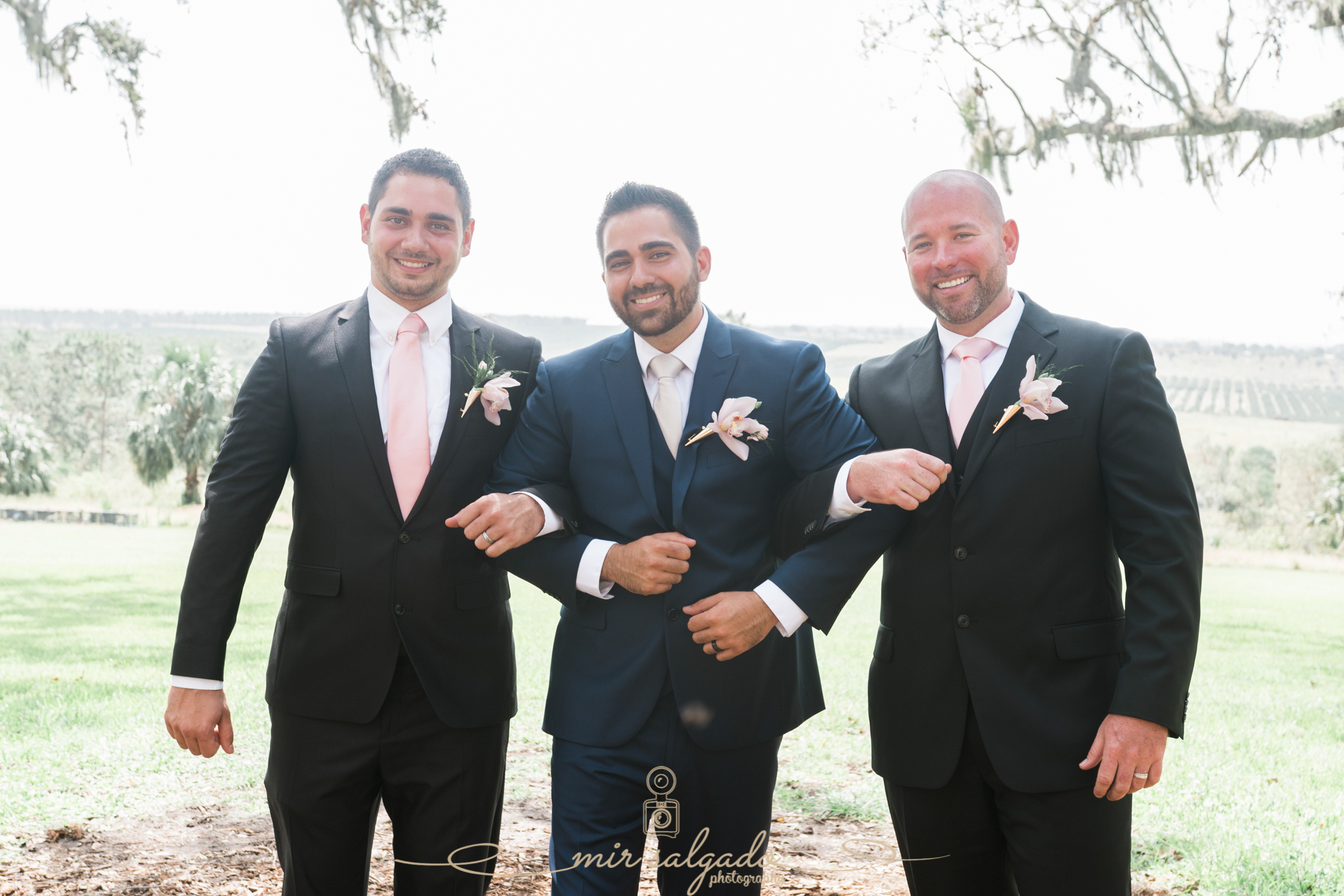 groom-and-groomsmen-photo, Bok-tower-gardens-wedding-photo
