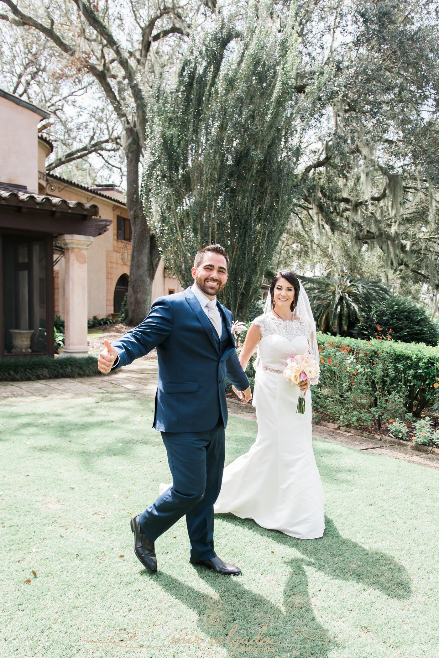 Bok-tower-wedding-photo, bride-and-groom-portrait
