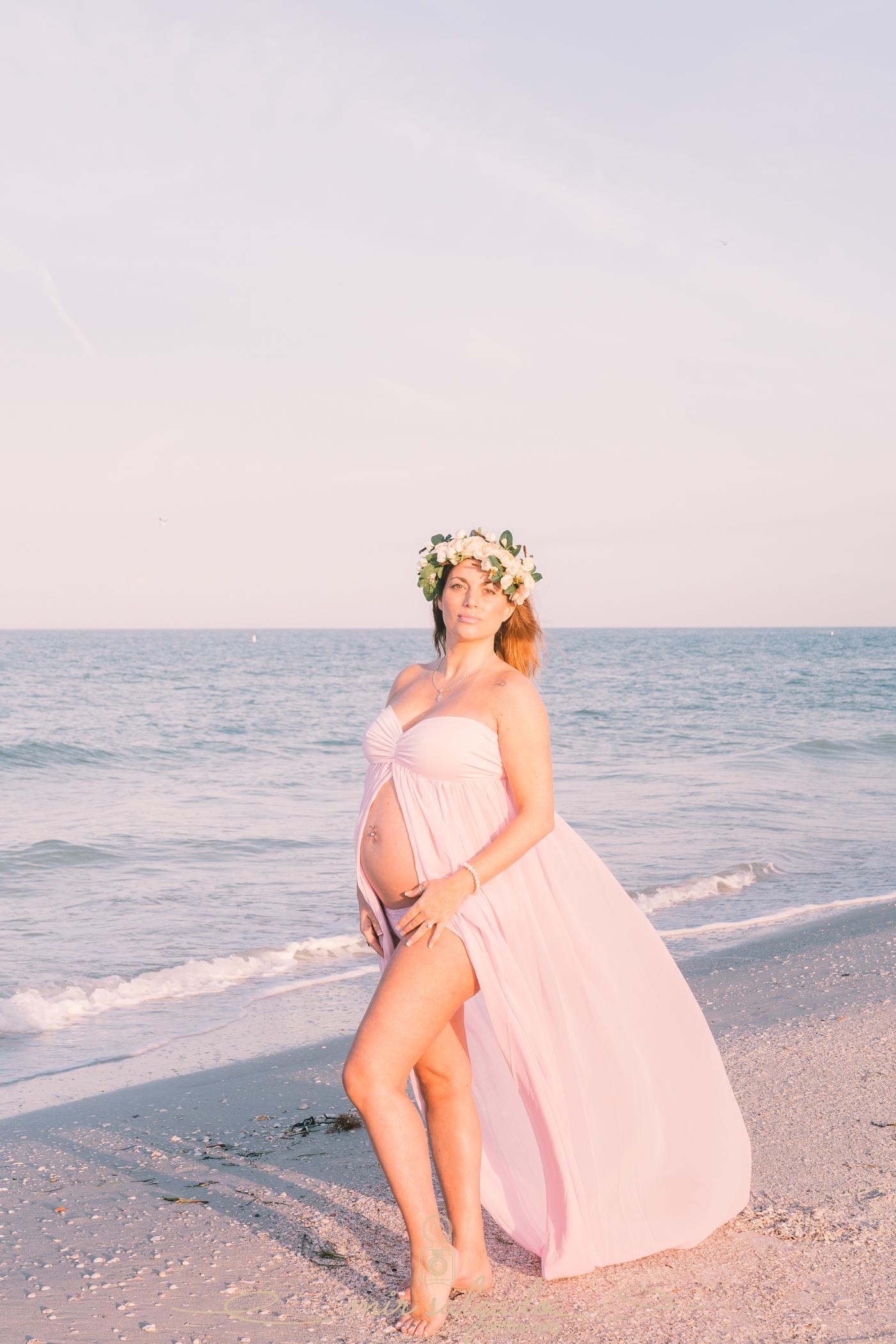 Beach-maternity-session, sunrise-beach-session