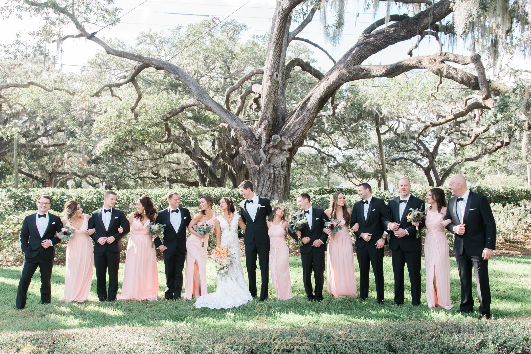 bridal-party-photo, Tampa-wedding-photographer, Tampa-yacht-club-wedding