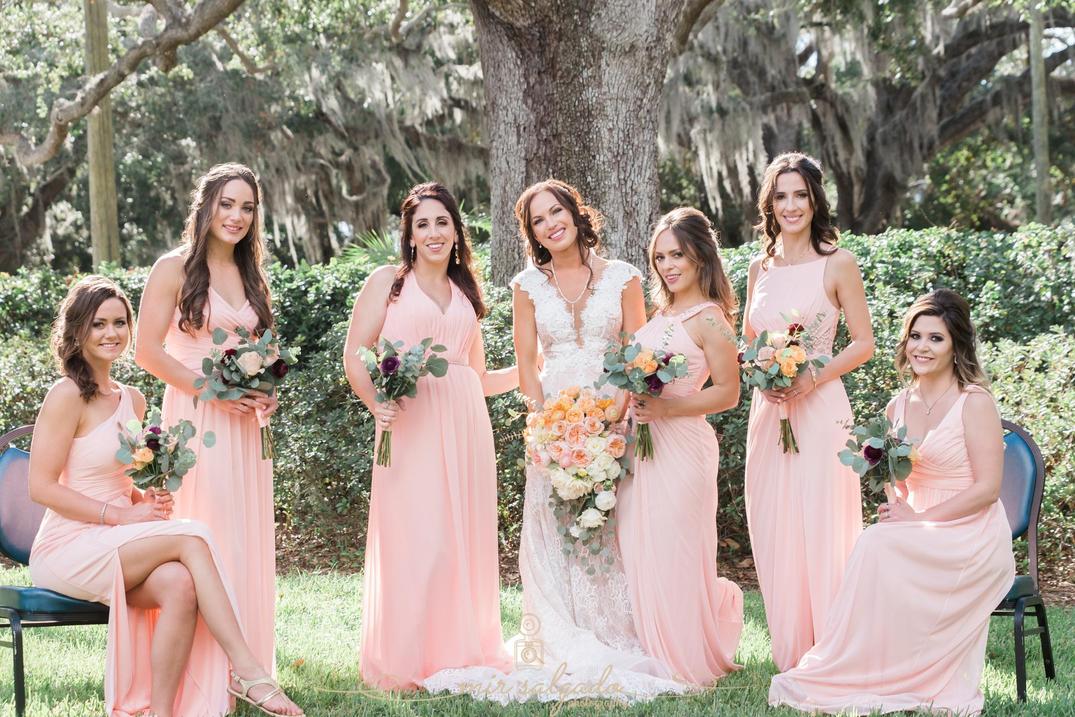 bridesmaids-wedding-photo, Tampa-yacht-club-wedding, bridesmaids-photo