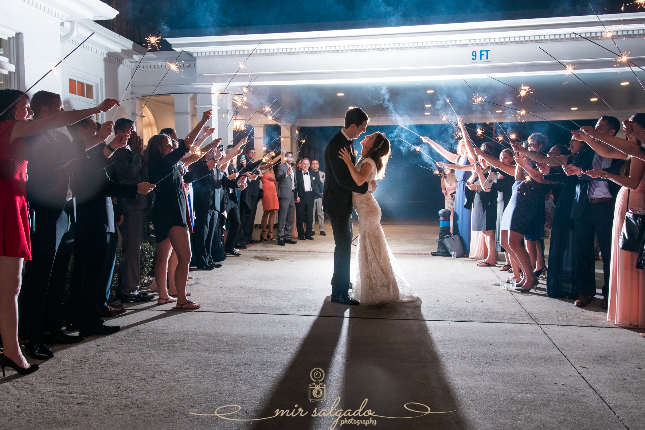 Tampa-yacht-club-wedding, Tampa-exit-wedding-photo