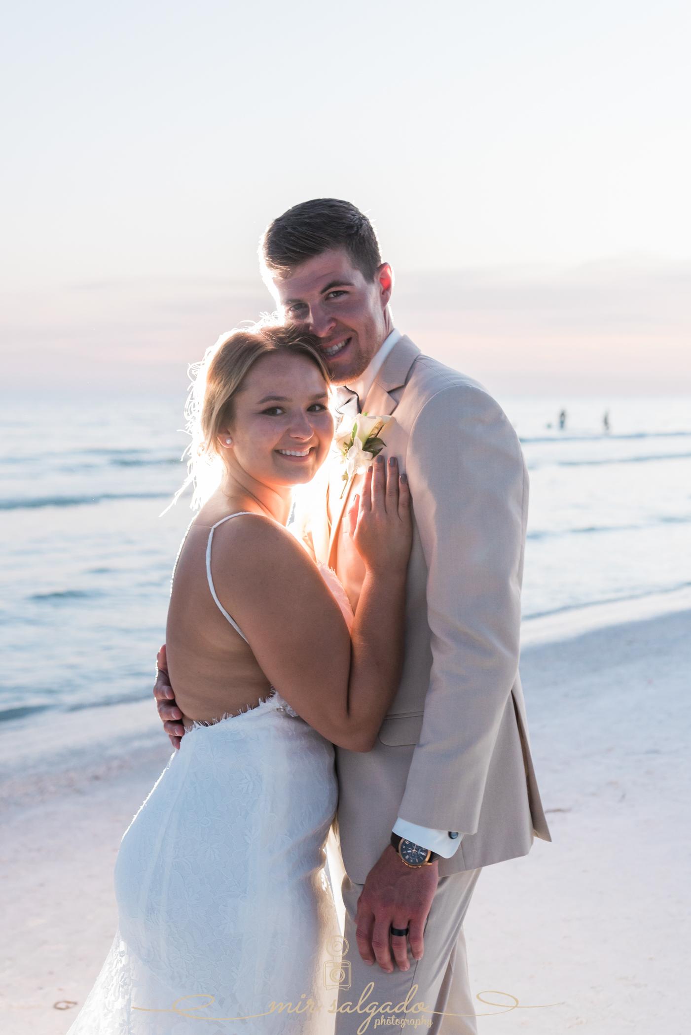 Florida-beach-wedding, bride-and-groom-beach-wedding-photo