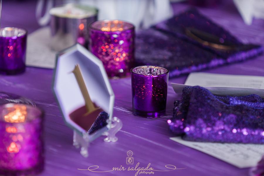purple-candle-holders, purple-table-cloths, mirror-table-numbers