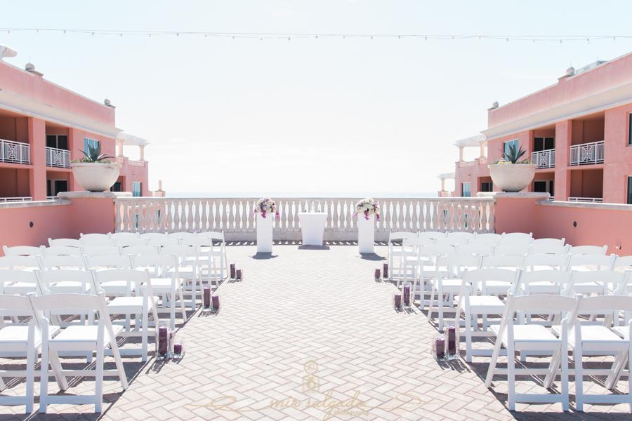 beach-side-Hyatt-hotel-wedding, ceremony-setup, wedding-ceremony