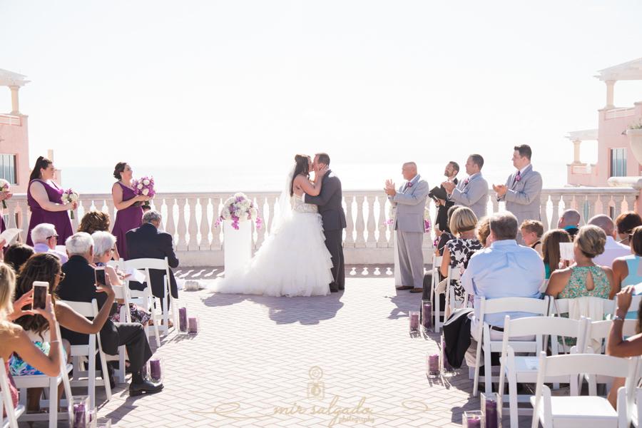 bride-groom-session, flower-bouquet, beach-side-Hyatt-hotel-wedding