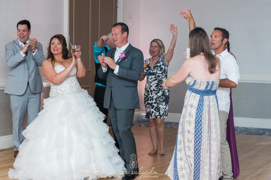 reception-dancing-couples, Hyatt-clearwater-beach-resort-spa, Tampa-wedding-photographer, bride-groom-dancing