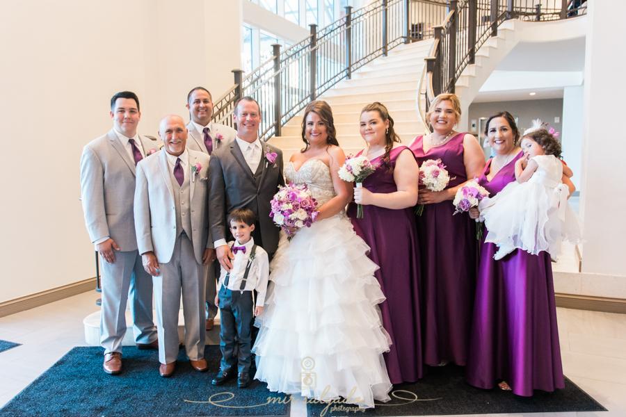 bride-groom-session, flower-bouquet, beach-side-Hyatt-hotel-wedding, bridal-party-session