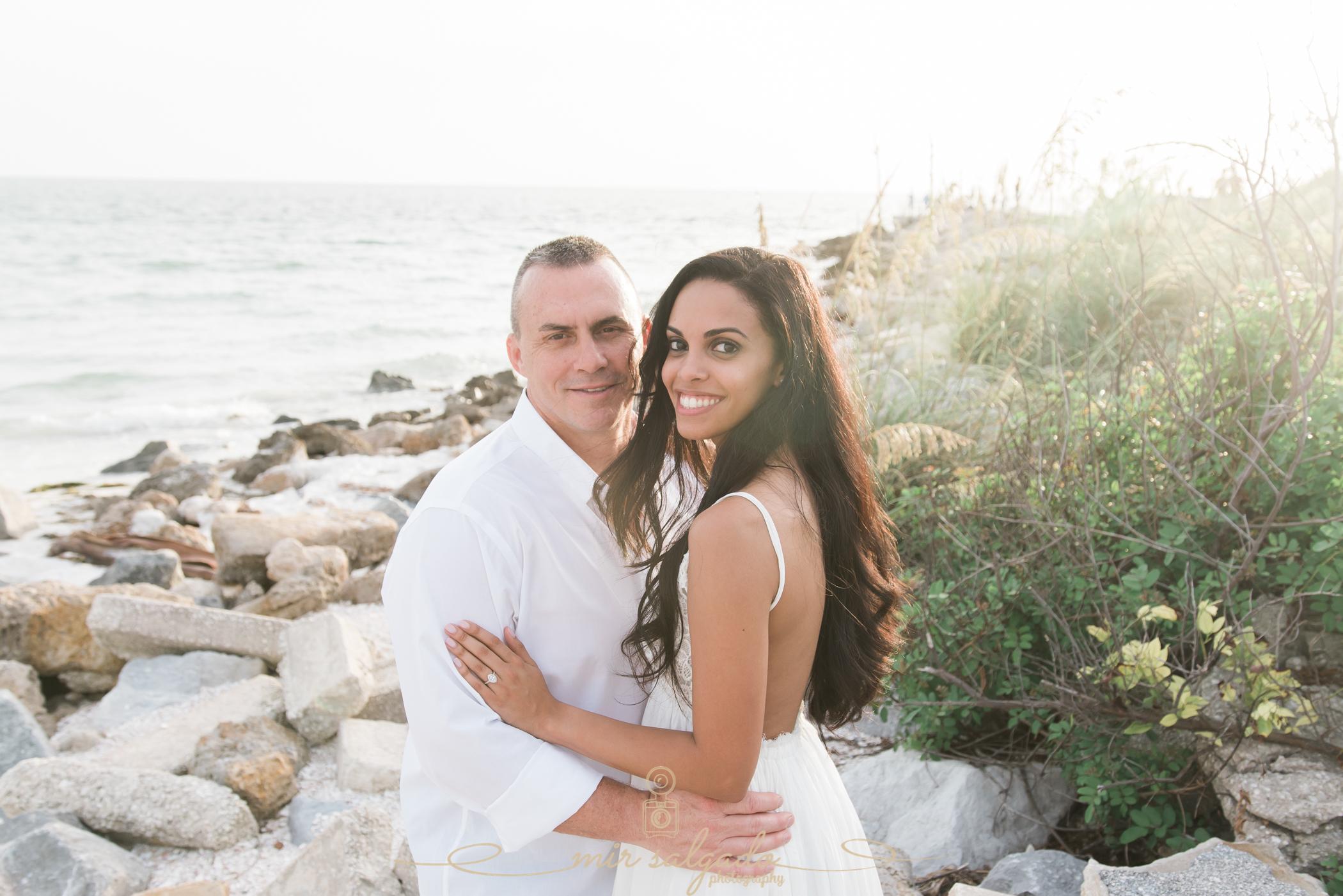 rocky-beach-engagement-photoshoot, tampa-beach-engagement-photographer, tampa-wedding-photographer