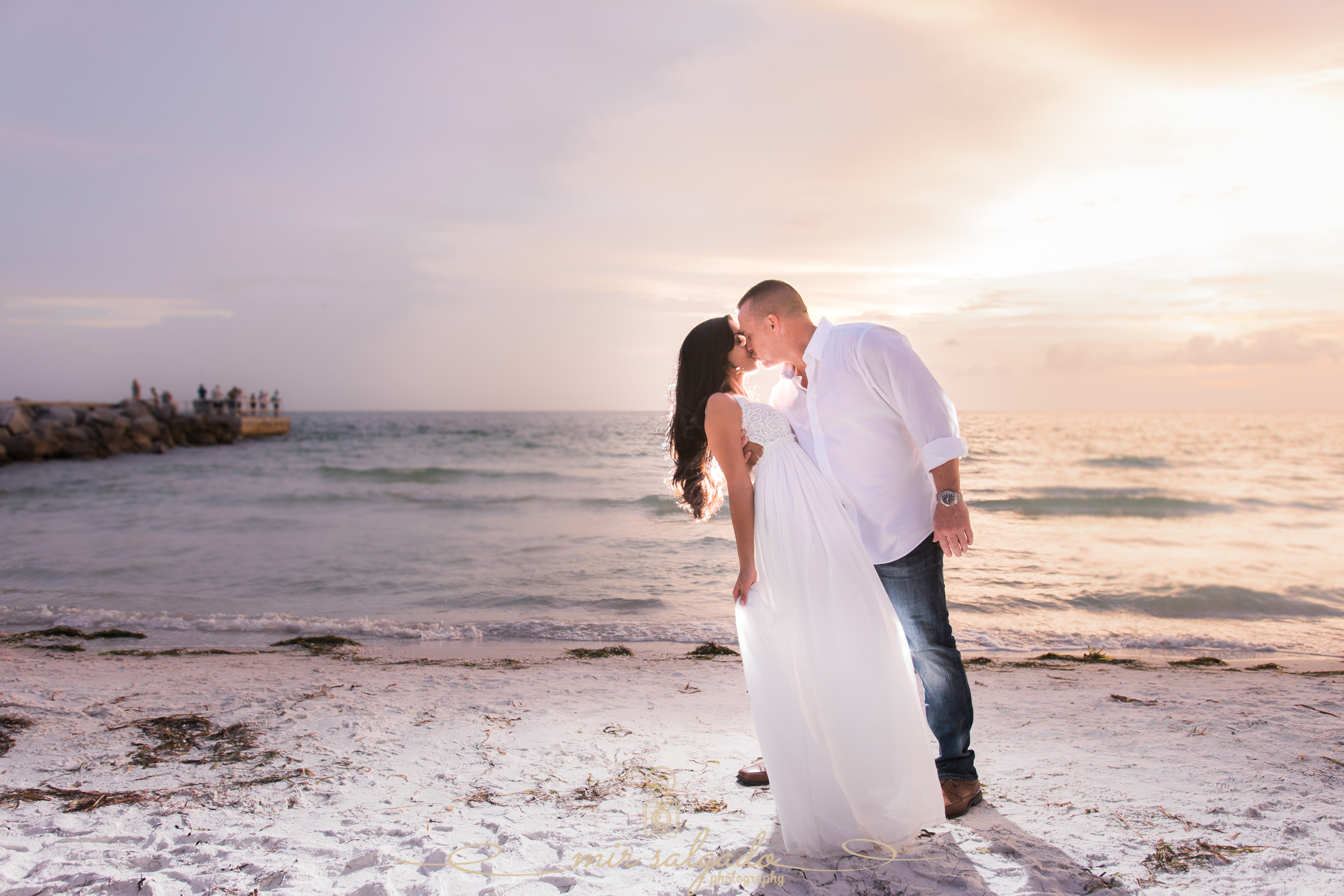 sunset-beach-engagement-session, pass-a-grille-beach-engagement, tampa-wedding-photographer