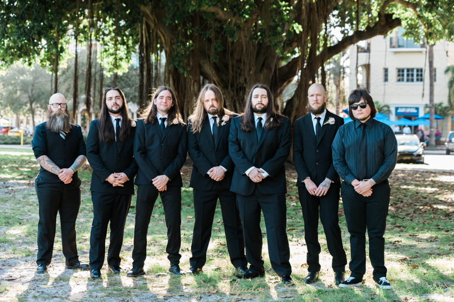 St.Pete-wedding-photographer, groomsmen-photo, Straub-Park-wedding