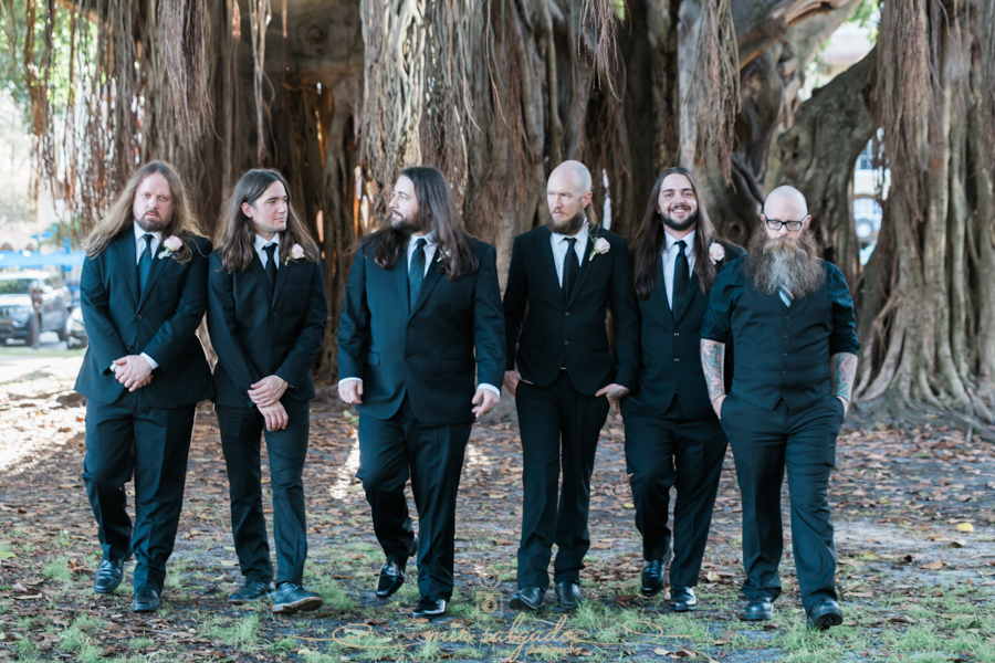 St.Pete-wedding, groom-and-groomsmen-photo