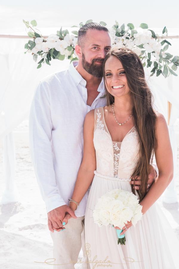 Florida-beach-wedding, bride-and-groom-beach-wedding, St.Pete-wedding
